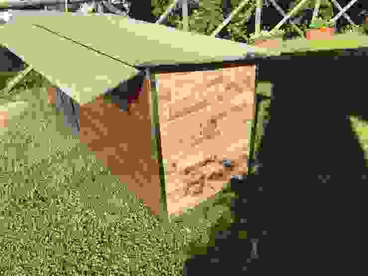 Cuccia doppia in legno da esterno riscaldata e personalizzata Pet House Design® Casetta da giardino Legno Marrone