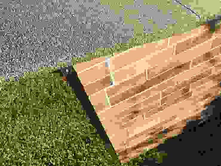 Cuccia doppia in legno da esterno riscaldata e personalizzata Pet House Design® Giardino con piscina Legno Marrone
