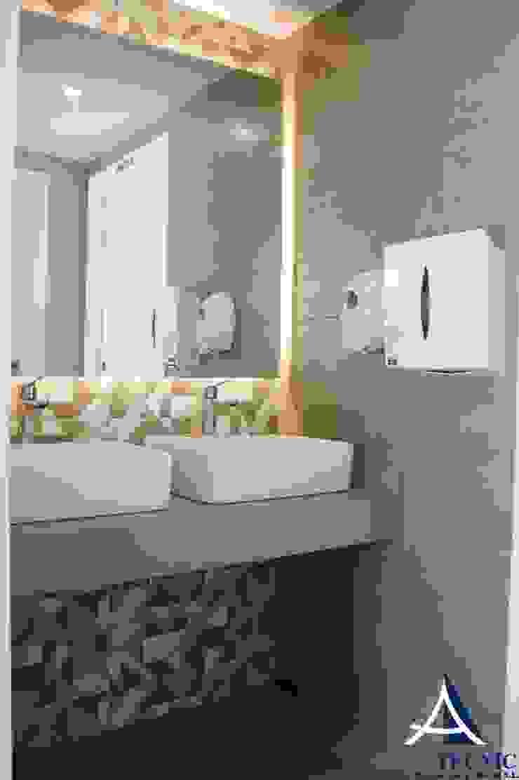 Detalle del baño Techluz Iluminación Bares y clubs de estilo moderno