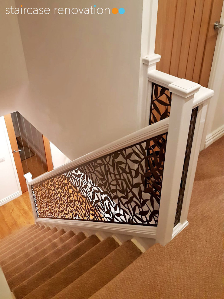 New Staircase Replacement Infill Panels Staircase Renovation Stairs Metal