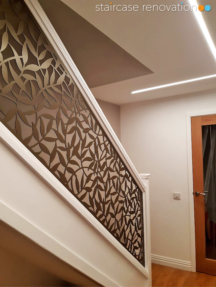 New Staircase Replacement Infill Panels Staircase Renovation Tangga Metal