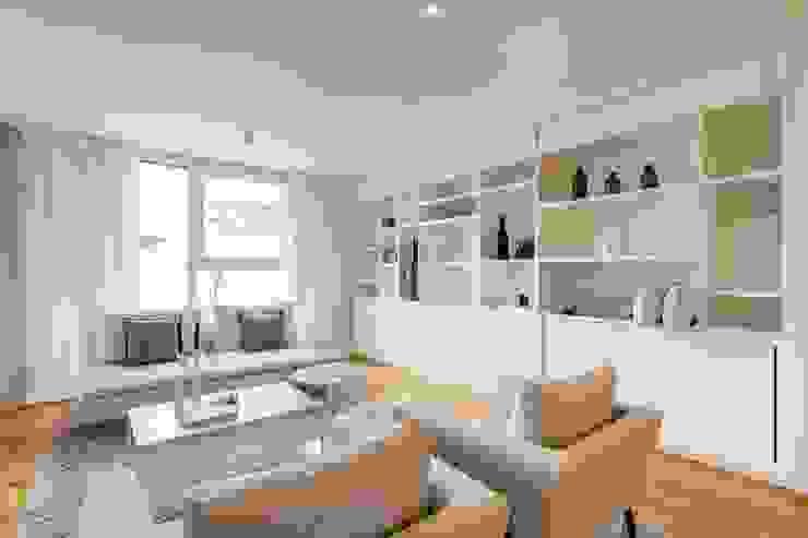 Münchner home staging Agentur GESCHKA Dormitorios minimalistas Blanco