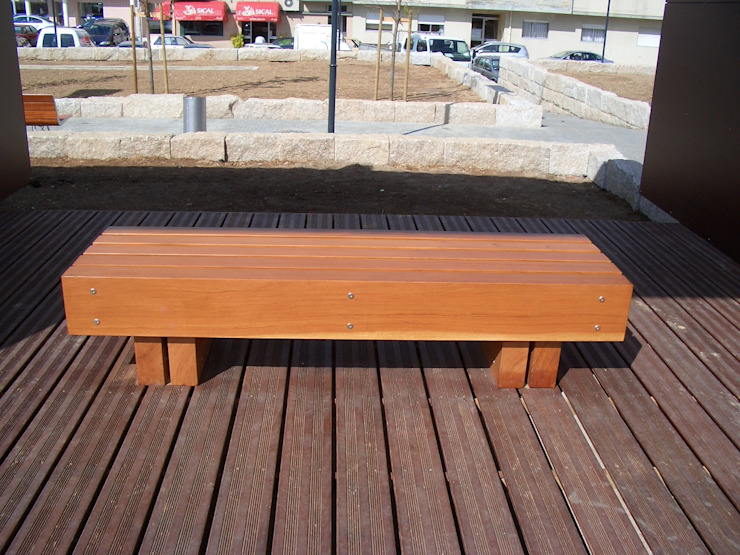 Renato Fernandes - arquitetura Garden Furniture Parket Wood effect