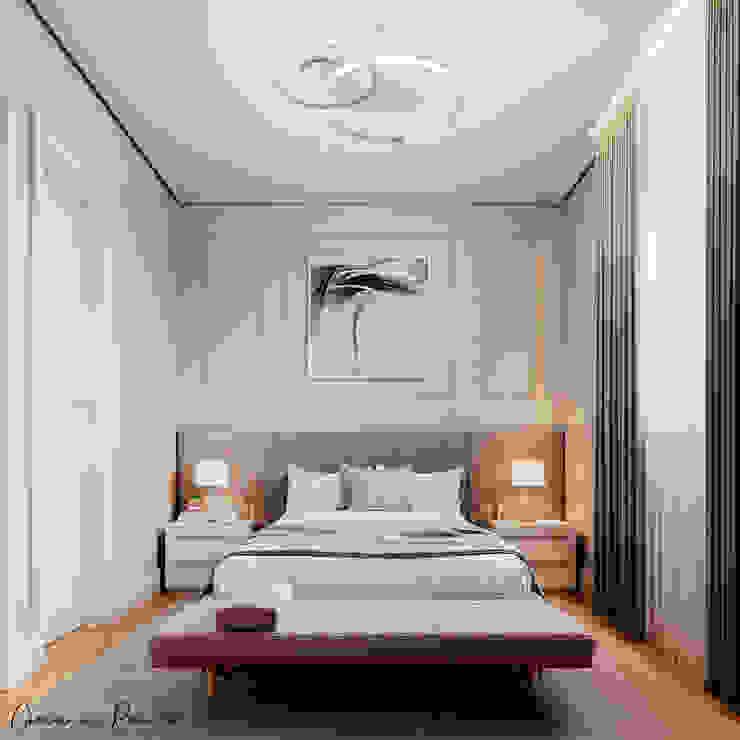 Suíte Casal Giovanna Romero Arquitetura e Interiores Quartos clássicos Cinza