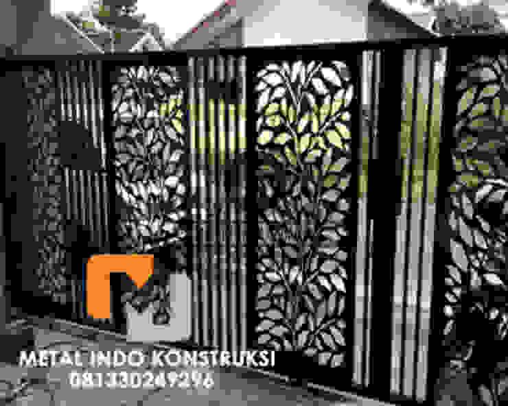Bengkel Las Nganjuk dan Pasang Plafon & Kanopi Nganjuk Metal Indo Konstruksi Rumah tinggal Aluminium/Seng Black