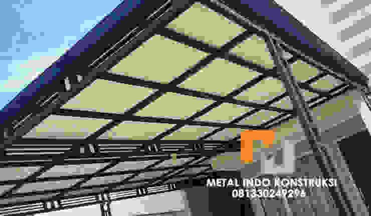 Bengkel Las Nganjuk dan Pasang Plafon & Kanopi Nganjuk Metal Indo Konstruksi Garages & sheds Aluminium/Seng White