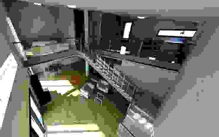Doble altura. Visto desde la planta alta. Acedo Arquitectura Estudios y despachos de estilo minimalista