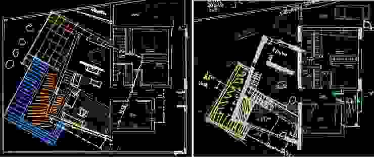 Bocetos preliminares. Generadores de la idea principal Acedo Arquitectura Salones de estilo minimalista
