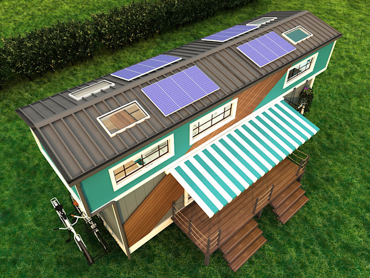 Vega Tiny House Kleines Haus Eisen/Stahl Grün