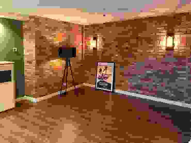 Neues Interior Design mit antiken Baustoffen Antik-Stein Rustikale Wohnzimmer