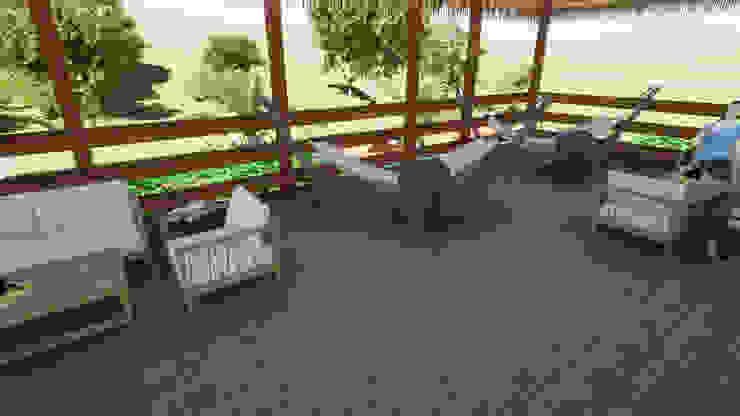 ROQA.7 ARQUITECTURA Y PAISAJE Country style balcony, veranda & terrace