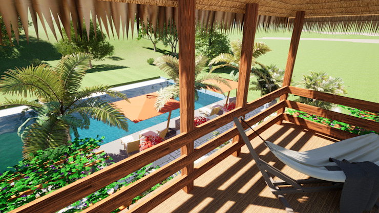 ROQA.7 ARQUITECTURA Y PAISAJE Country style pool