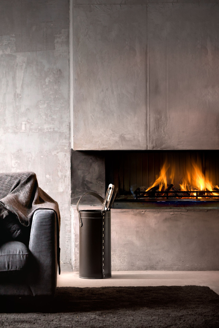 Limac Design Living roomFireplaces & accessories Kulit