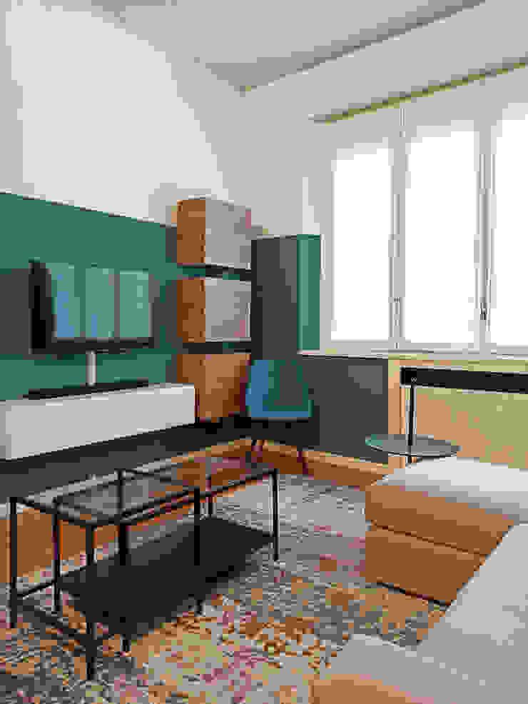 Soggiorno viemme61 SoggiornoSupporti TV & Pareti Attrezzate Verde