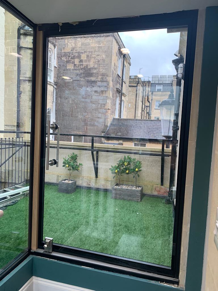 Bath Winter 2020 Glass Structures Limited Modern Corridor, Hallway and Staircase