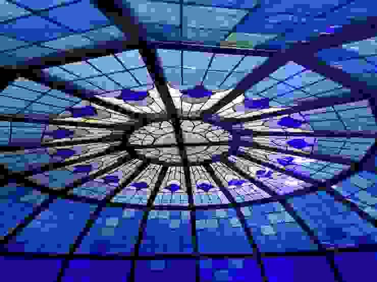 cupola in vetrata artistica bliss Studio Vetrate Artistiche Corpetti Centri commerciali in stile classico Vetro Variopinto