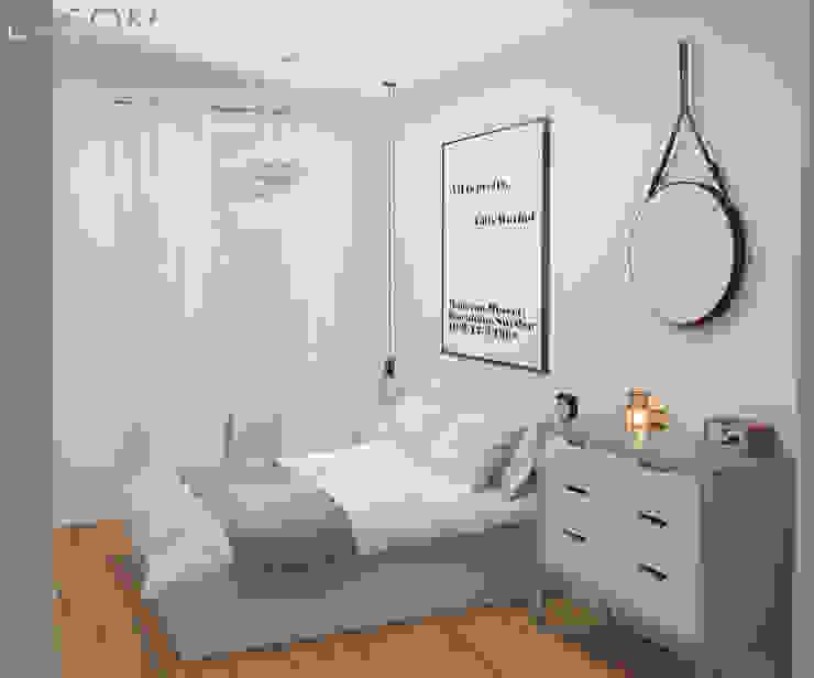 Quarto de casal Lagom studio Quartos escandinavos Branco