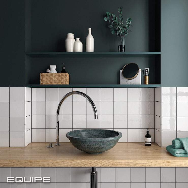 Equipe Ceramicas Scandinavian style bathrooms Tiles White