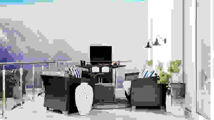 Студия дизайна ROMANIUK DESIGN Classic style balcony, veranda & terrace