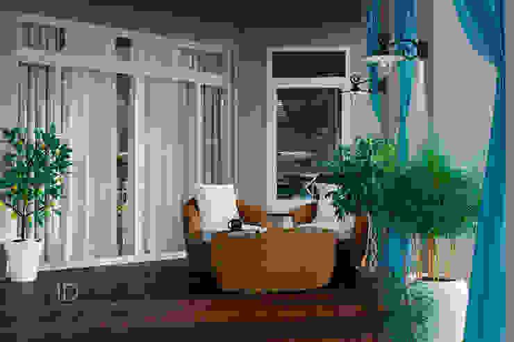 Студия дизайна ROMANIUK DESIGN Mediterranean style balcony, veranda & terrace