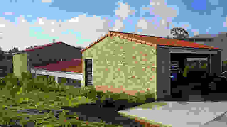 AD+ arquitectura Detached home Stone White