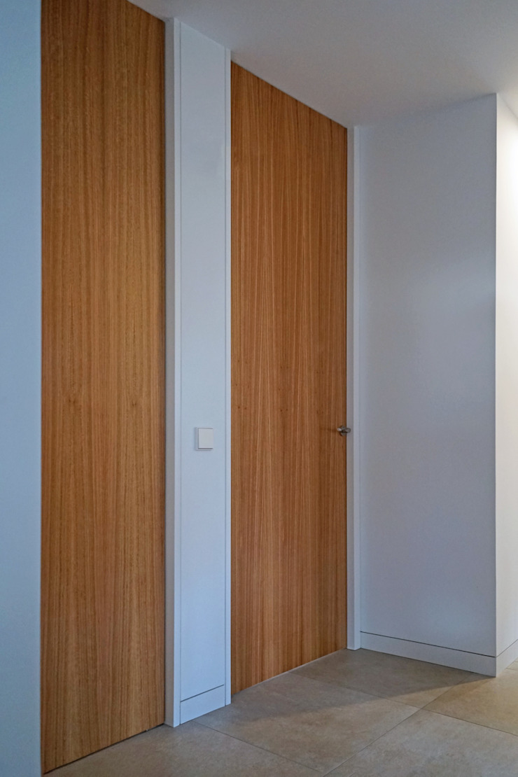 AD+ arquitectura Modern corridor, hallway & stairs Wood White