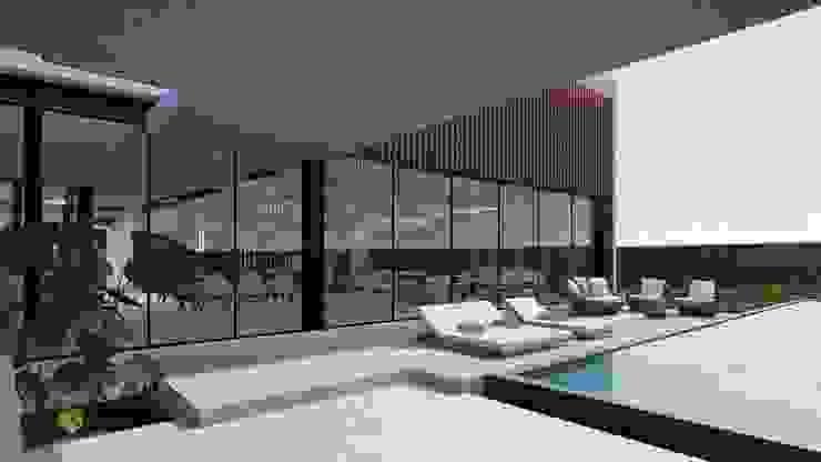 Casa Campestre Condominio en Jamundi - Valle DeCasas.co Balcones y terrazas de estilo moderno