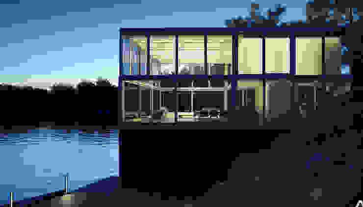 Glass Boat House Door Studio North America Corp Glass doors Aluminium/Zinc Metallic/Silver
