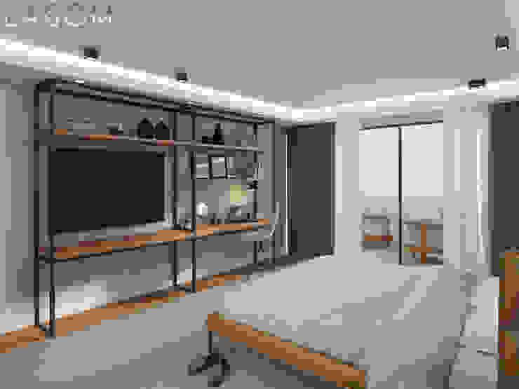 Suite Lagom studio Quartos industriais Cinza