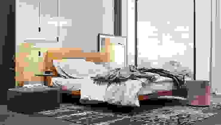 Студия дизайна ROMANIUK DESIGN Minimalist bedroom