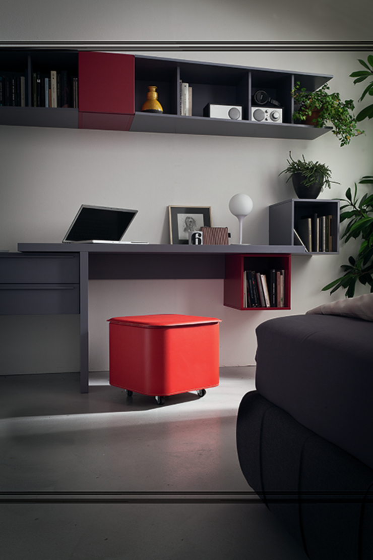 Limac Design Study/officeAccessories & decoration Leather Red