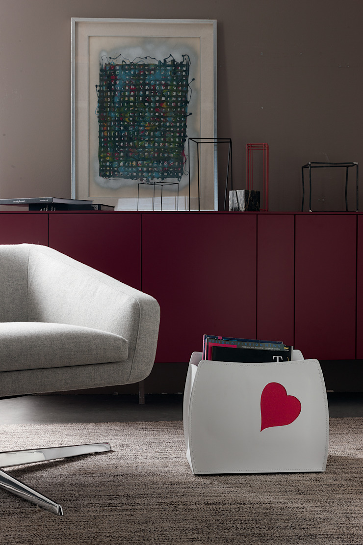 Limac Design Living roomAccessories & decoration Leather Red