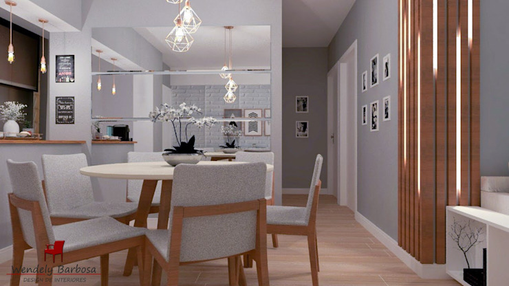 Wendely Barbosa - Designer de Interiores Modern Dining Room