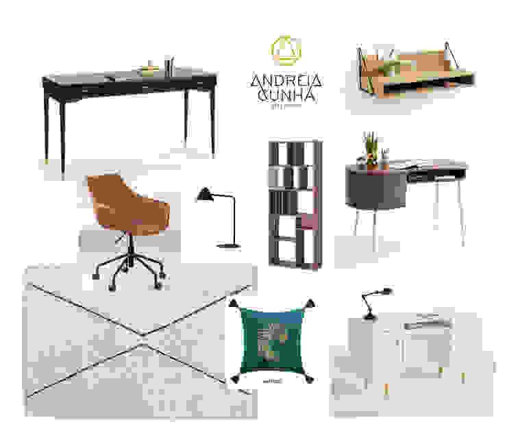 Home Office Andreia Cunha Interiors Escritórios modernos