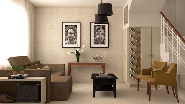 Estar e Jantar A&M Julia Pinheiro Interiores Salas de estar clássicas