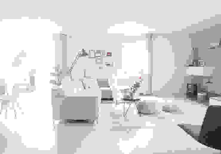 Zithoek in de woonkamer Meer met interieur Scandinavische woonkamers