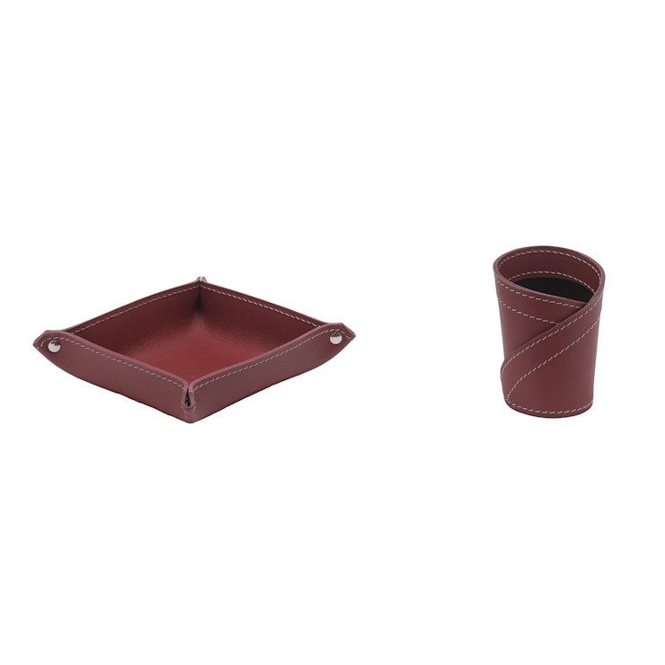 Limac Design Study/officeDesks Leather Red