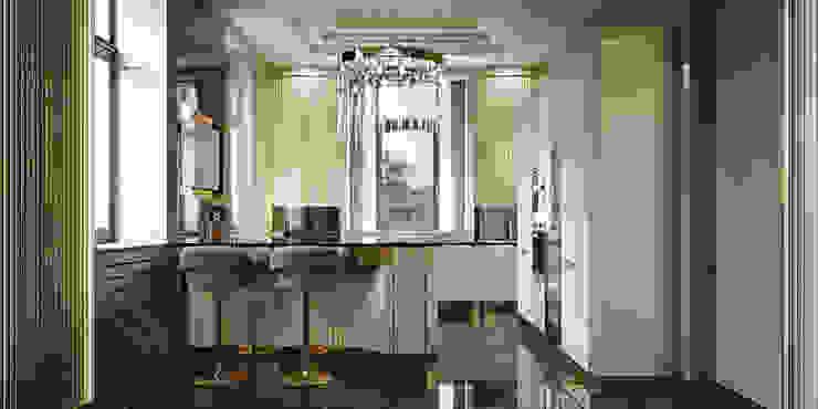 Cucina -Brummel Brummel Cucina attrezzata Legno massello Ambra/Oro