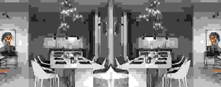Appartement à Moscou dans le style néoclassique DelightFULL Salon moderne