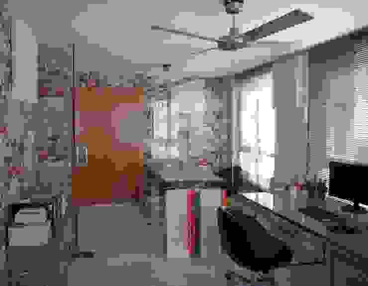 Contraste de las paredes pintadas y empapeladas Sara Hueso Fibla