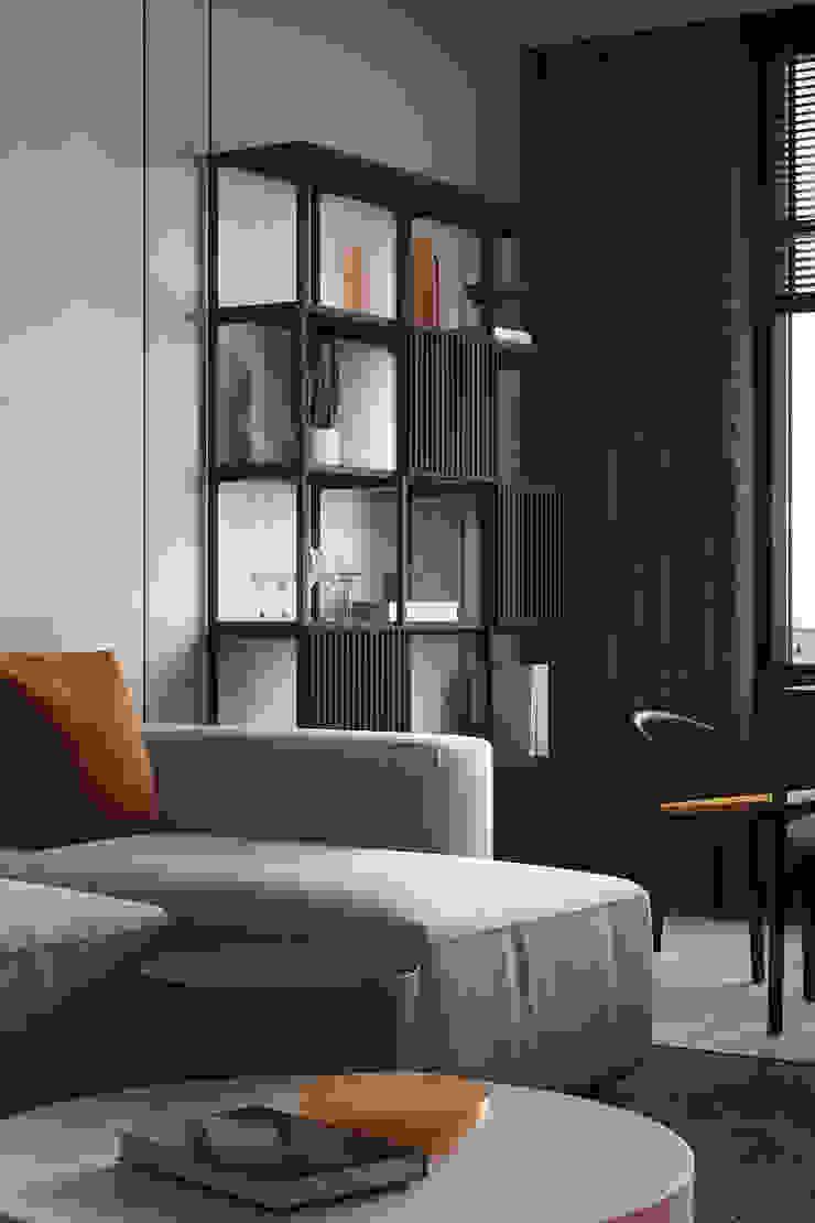 Y.F.architects Soggiorno minimalista