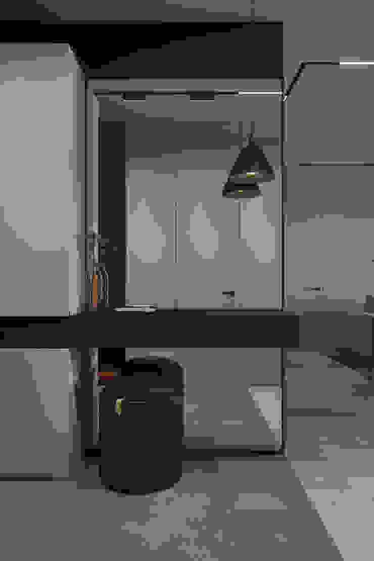 Y.F.architects Ingresso, Corridoio & Scale in stile minimalista