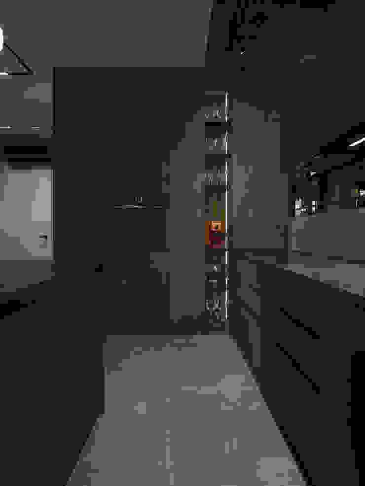 Y.F.architects Cucina attrezzata Nero