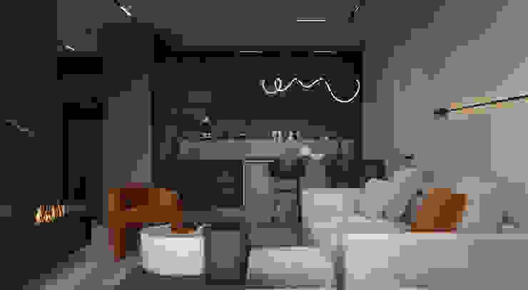 Y.F.architects Sala da pranzo minimalista