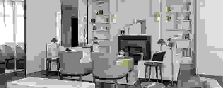 Salon de luxe neutre à Dubaï DelightFULL Salon moderne