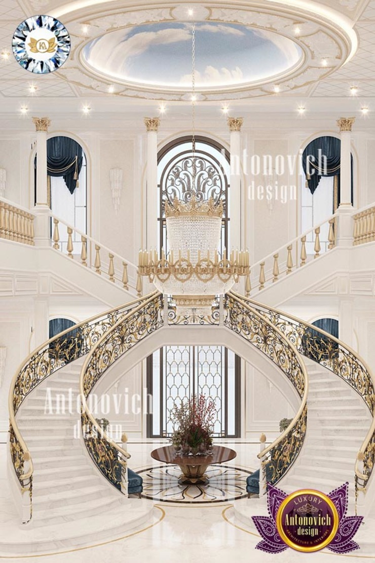 MOST LUXURIOUS STAIRCASE DESIGN SOLUTION BY LUXURY ANTONOVICH DESIGN Luxury Antonovich Design Stairs