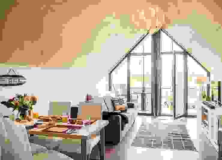 JEBENS SCHOOF ARCHITEKTEN BDA Modern living room Wood