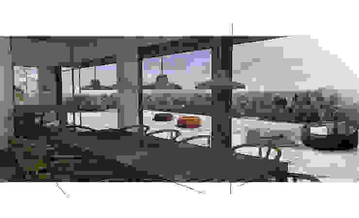 sala pranzo con vista panoramica Luisa Olgiati