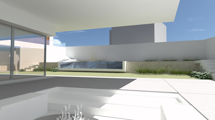 Living exterior OTHERSIDE ARCHITECTS Casas unifamilares Branco