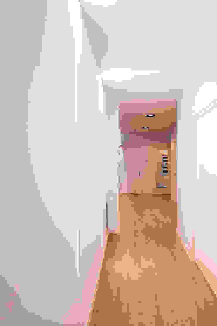 EGENOR S.L 現代風玄關、走廊與階梯